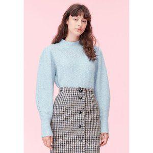 NWT Rebecca Taylor Optic Tweed Sweater Blue Large